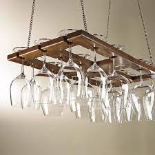 image of mahogany wine glass hanger