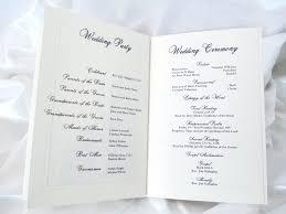 Wedding Ceremony Brochure Wedding Ceremony Brochure Booklet Ideas Program Fan