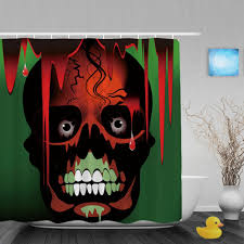 Skull Bedroom Curtains Halloween Shower Curtain Promotion Shop For Promotional Halloween
