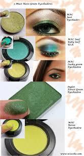 green eye makeup tutorials