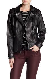guesssnake embossed faux leather jacket
