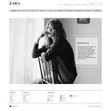 zara website design by hibah osman at com h favorite