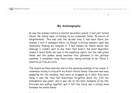 Short Autobiography Example Personal Biography Essay Co Of An