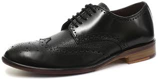 london brogues lincoln 5 eye mens leather sole derby shoes black men s lace ups london brogues shoes recognized brands