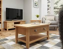 oak city milan oak large coffee table
