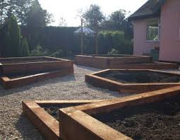 garden design with sleepers. john schofieldu0027s raised bed design with railway sleepers garden n