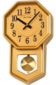 Кварцевые <b>настенные часы Rhythm CMP545NR18</b> с маятником