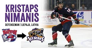 """Knoxville Ice Bears a Twitter: """"ROSTER UPDATE: Kristaps Nimanis  (https://t.co/lS1HCHIY3D) has been acquired from Macon, to complete Chris  Izmirlian trade from December. ALSO: Al Graves placed on waivers Eliot  Grauer 21 day"""