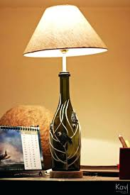wine bottle lamp shade best decorations images on crafts art and lamps  shades