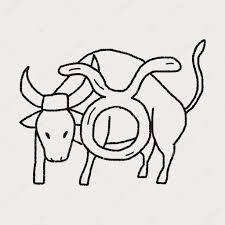 Doodle Souhvězdí Býka Stock Vektor Hchjjl 73777091