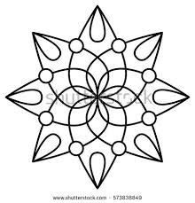 simple fl mandala pattern for coloring book pages tattoo prints and decorative sts easy