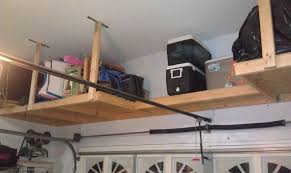 Wooden Garage Ceiling Storage