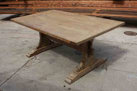 reclaimed dining room table. Room Decoration Using Rustic Beautiful Image Of Reclaimed Wood Dining Tables : Captivating Rectangular Double Pedestal Table