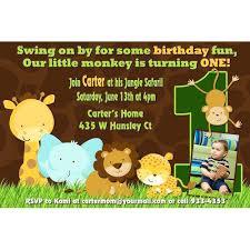 Safari Party Invitations Animal 1st Birthday Invitations Jungle Birthday Party Invitation