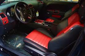 2016 dodge challenger red custom interior