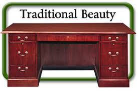 office wood desk. Traditional Wood Desk Double Pedestal Office