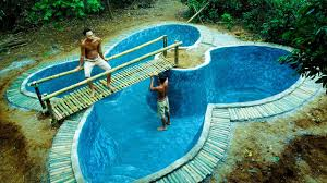 swimming pool. Contemporary Swimming Build Swimming Pool Underground ButterflyPart 1 And O