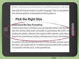 How To Read A Knitting Pattern Inspiration 48 Ways To Read A Knitting Pattern WikiHow