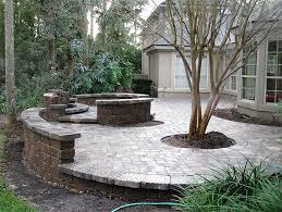 hardscape package 4 brick paver patio pergola firepit retaining wall enhance companies