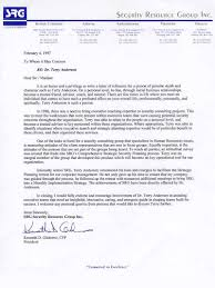 Letters Of Recommendation Consulting Coach Anderson Corporate