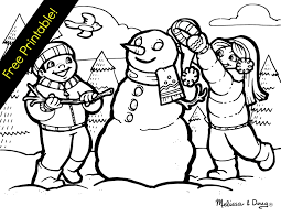 Small Picture Free Winter Coloring Pages Printable Coloring Pages For Kids Image