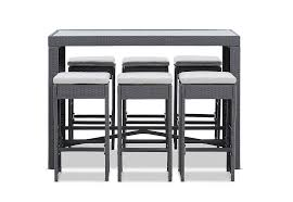 GREY RIMINI <b>7 Piece</b> Outdoor <b>Bar</b> Setting | Amart Furniture