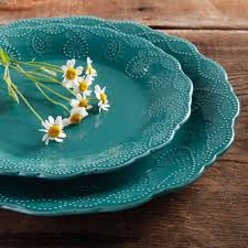 Pioneer Woman Kitchen Remodel The Pioneer Woman Cowgirl Lace 12 Piece Dinnerware Set Walmartcom