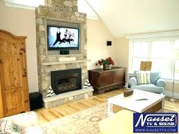 stone fireplace ideas with above stacked tv surprising firepl
