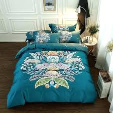teal full size bedding teal king duvet cotton printing luxury bedding set king queen size bed