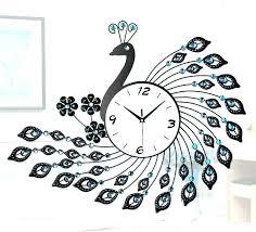 iron wall clock large metal art kids room clocks skeleton roman numerals black