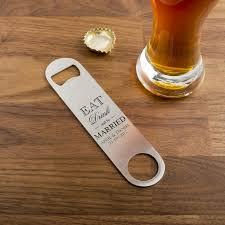 personalised wedding favour stainless steel bottle opener wedding