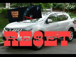 How to reset Service Engine soon Light on a 2009 Nissan Murano ...