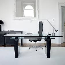 desk in office image of modern home office desk glass top alaska black oak office desk