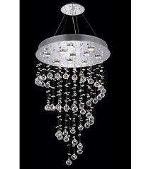 elegant lighting 2024d24c led rc galaxy 10 light 24 inch chrome dining chandelier ceiling light in led clear royal cut