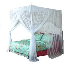 Queen Canopy Bed Curtains: Amazon.com