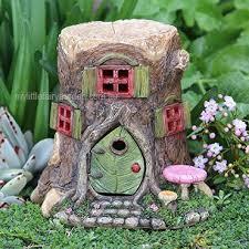 tree stump house w opening door