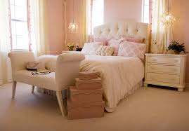 feminine furniture. elegant pink bedroom with cream headboard and furniture feminine i