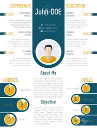 Resume Modern E Cool Modern Resume Curriculum Vitae Design With Contrast Colors