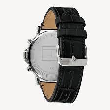 <b>Часы с кожаным ремешком</b> | ЧЕРНЫЙ | Tommy Hilfiger