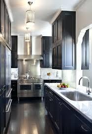 black cabinets white countertops galley kitchen cabinets dark cherry cabinets with white granite countertops