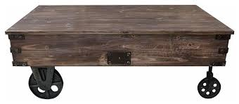 rustic coffee table antique black