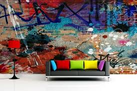 street art in your home and use graffiti as a wall decoration for a fresh and modern interior if bright colors and cheerful enjoy bringing