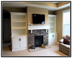 built in shelves around fireplace diy