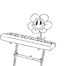 undertale white black and white line art furniture drawing line