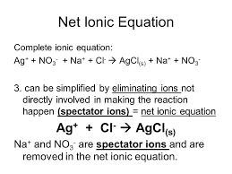 net ionic equation ag cl agcl s
