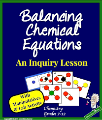 balancing chemical equations inquiry lesson with quick lab that proves the law of conservation of mass