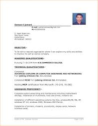 Resume Job Application Sample 24 Format Of Resume For Job Application To Download Basic 24 Sevte 20