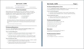 Best One Page Resume Format Resume Template Easy Http Www