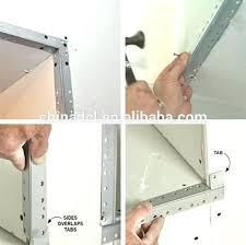 drywall outside corner bead corners rounded finishing metal inside