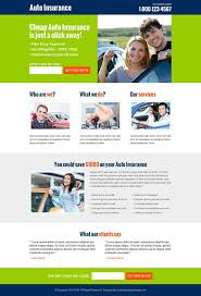 auto insurance free quote lead capture converting landing page design